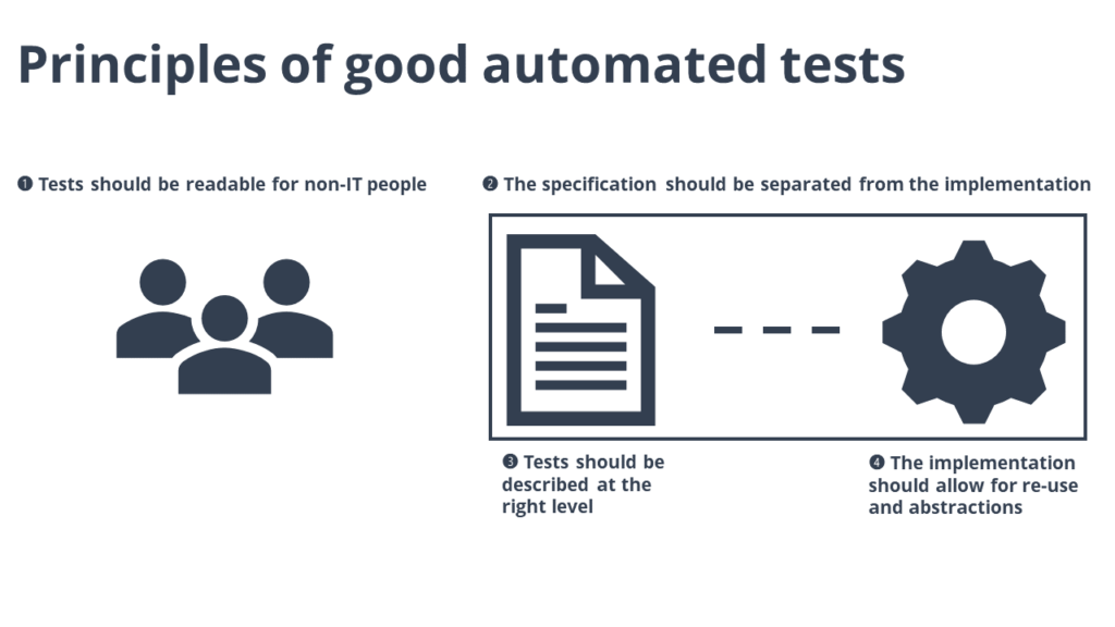 principles of good automated tests