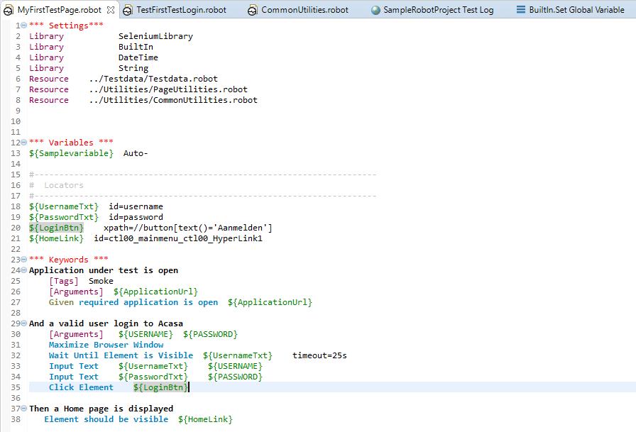 Robot Framework Variables