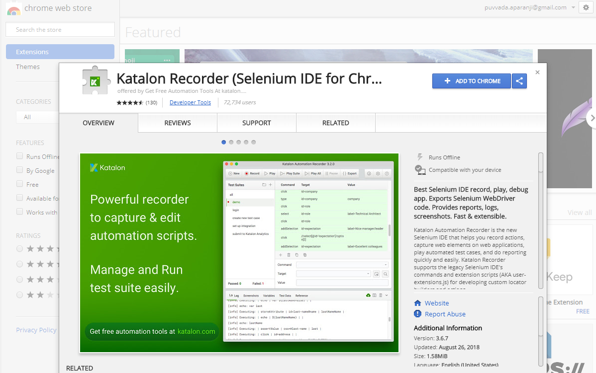 Creating Selenium Automation tests faster using Katalon Recorder