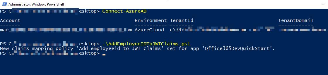 Azure AD - Adding Employeeid claims in Azure AD JWT token - Devonblog