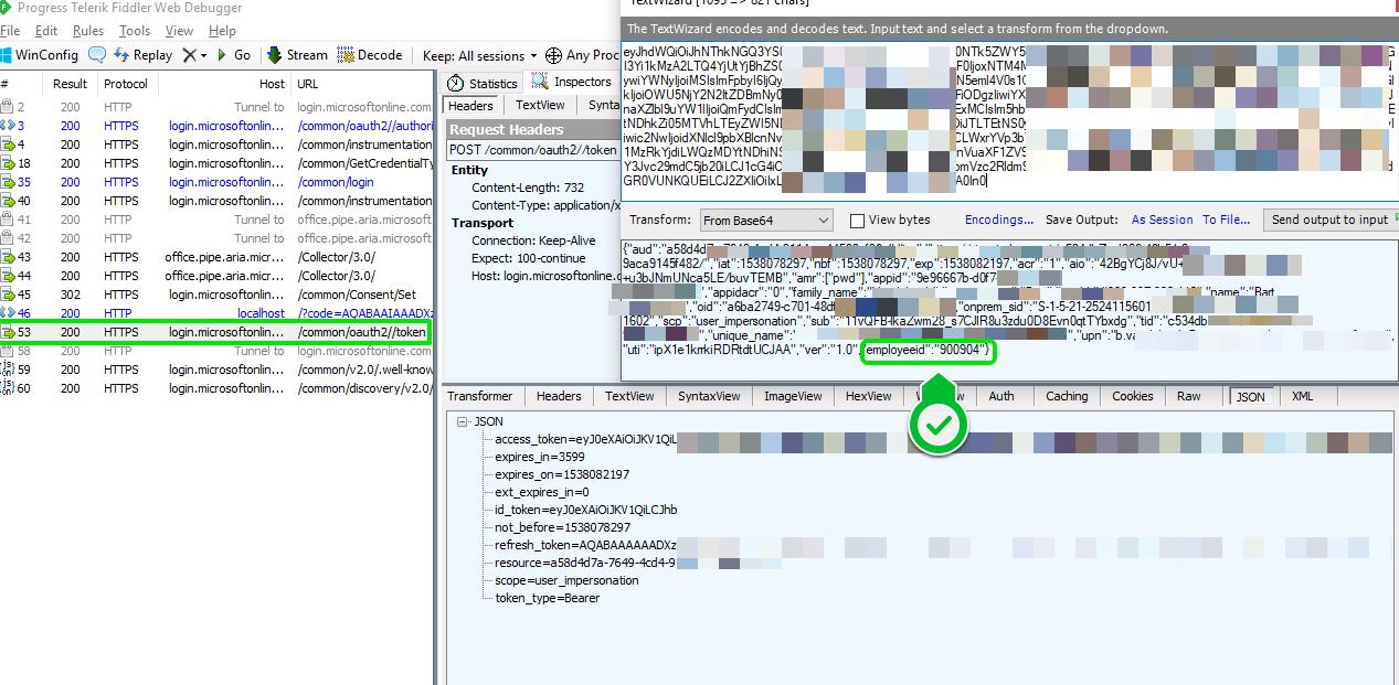 Azure AD - Adding Employeeid claims in Azure AD JWT token